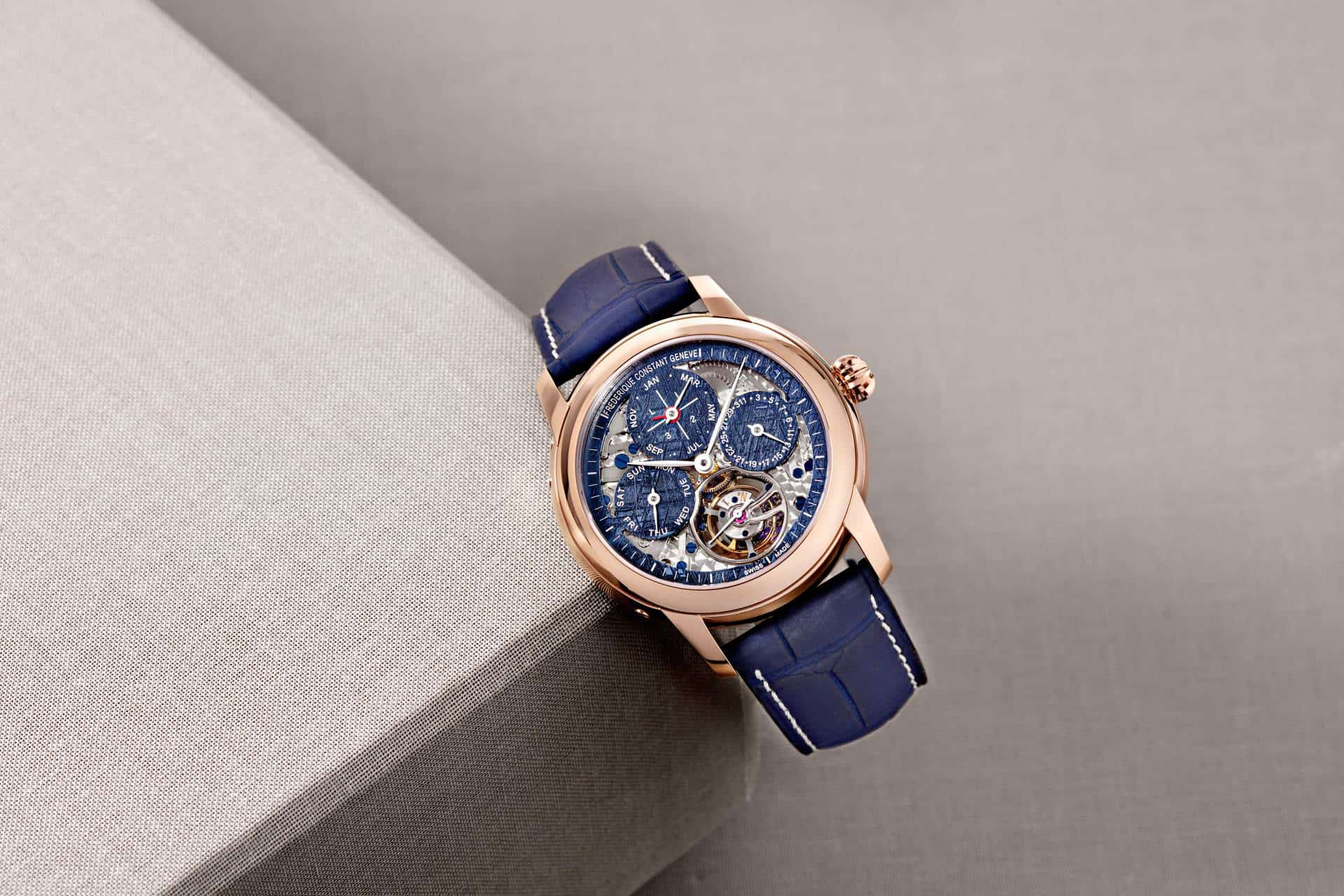 Frederique Constant supports Only Watch with a spectacular Meteorite Tourbillon Perpetual Calendar Manufacture timepiece